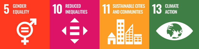 Sustainable Development Goals 5, 10, 11 und 13