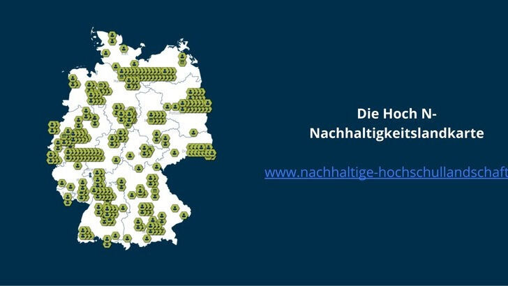 Map of Germany Project Hoch N Sustainability Landscape